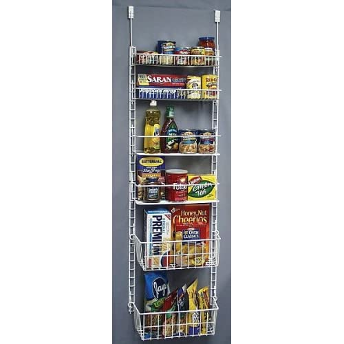 Amazon.com - Deluxe Storage Pantry Door Rack - Cabinet Organizers