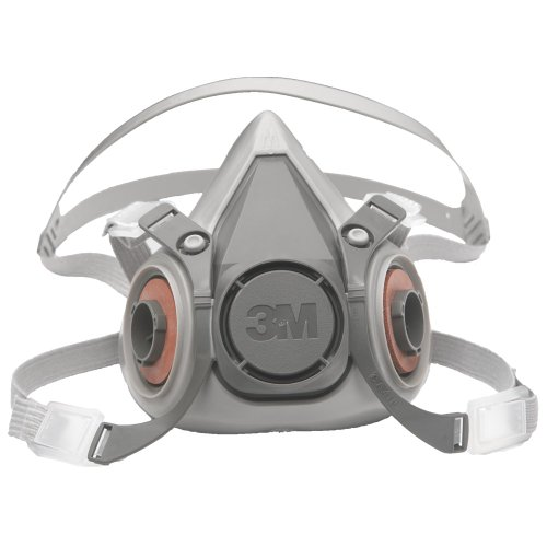 3M Half Facepiece Reusable Respirator 6200/07025(AAD), Respiratory Protection, Medium(Pack of 1)