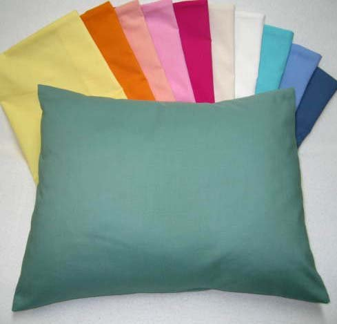 Sheetworld - Baby Pillow Case - Percale Pillow Case - Light Solids - Aqua - Made In Usa front-1023269