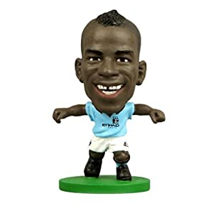 Manchester City F.C. SoccerStarz Balotelli- mario balotelli- soccerstarz figure- 2 inches tall- with collectors card- in blister pack- Official Football Merchandise by Limited Stock / Collectables