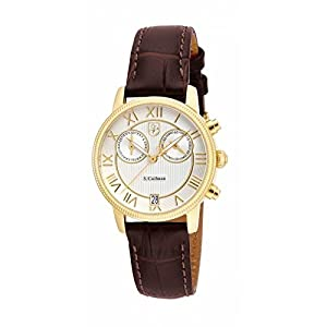 Invicta S. Coifman SC0331 32mm Stainless Steel Case Brown Leather Mineral Women's Watch