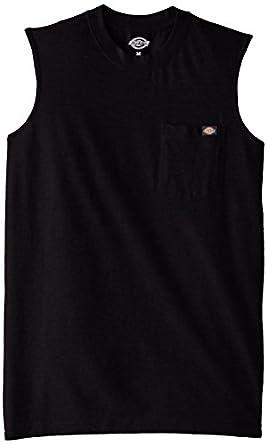 Dickies Men's Sleeveless Pocket T-Shirt, Black, Medium