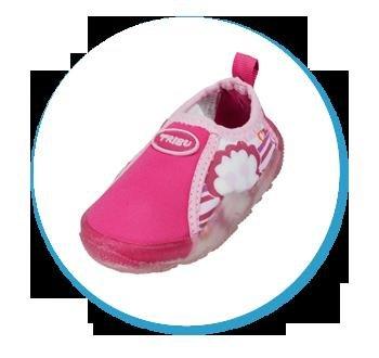 Freds Swim Academy-Scarpe da piscina e spiaggia, modello da bambini scarpe 22-28, Pink, 24 EU