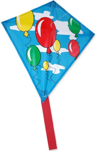 Premier 17252 Mini Diamond Kite with Fiberglass Frame, Balloons