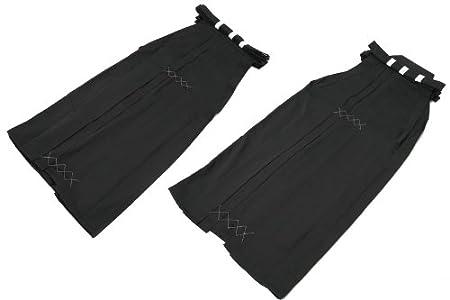弓道具 弓道着類 袴 男性用 女性用 黒色無地 馬乗り型 山武弓具店【H-154】