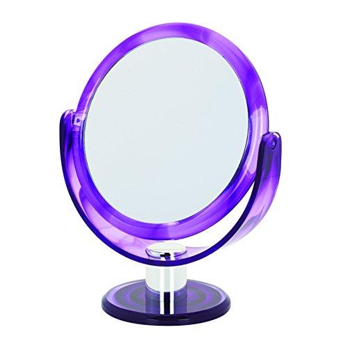 Danielle Creations Vanity - Specchio rotondo girevole, 17 cm, colore viola
