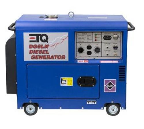 ETQ DG6LN 5500 Watt 10 HP 418cc Diesel Powered Enclosed Portable Generator