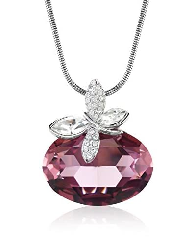 Absolute Crystals Set catenina e pendente Oval Dragonfly Rosa Polvere