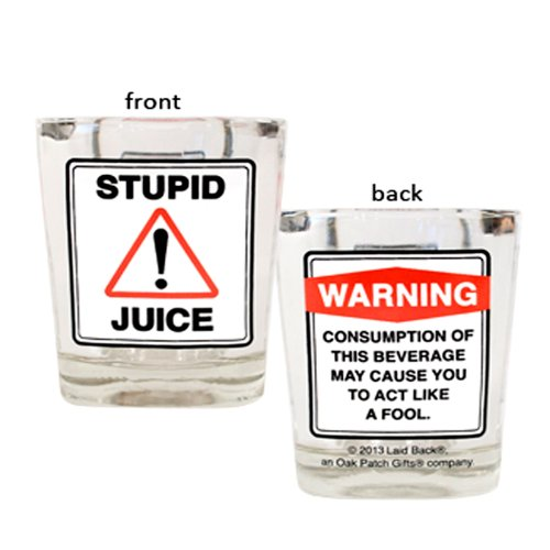 Laid Back CS13059 Stupid Juice Shot Glass, 2-Ounce