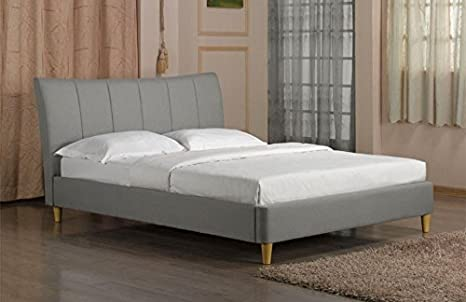 Sweet Dreams Nelson Bed Frame King Size 5FT 150cm Scandinavian Retro Grey Fabric