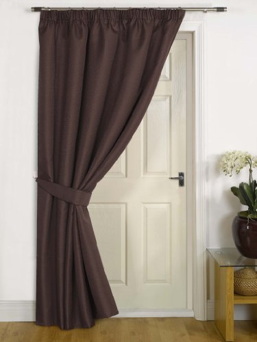 Canterbury Chocolate Thermal Door Curtain 56
