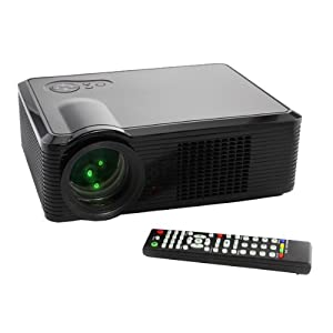 LED-33 HD 1080P LED PROJECTOR SUPPORTS HDMI,USB,DTV,COMPONENT 16: 9 and 4:3 black
