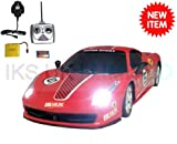 Radio Remote Control Ferrari 458 Race Car RECHARGEABLE 20KPH .