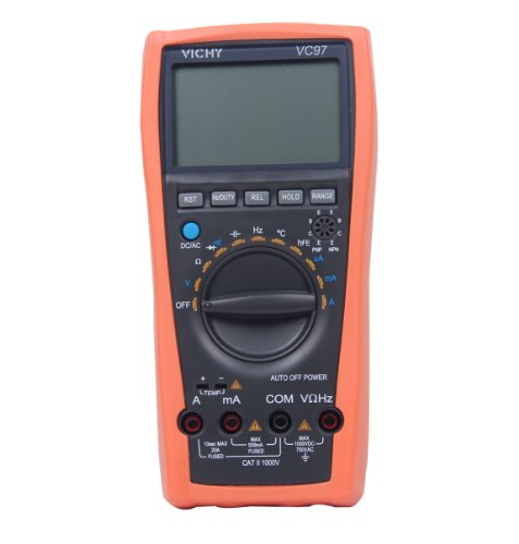 Vichy VC97 3 3/4 LCD Manual Auto Digital Multimeter Tester Volt Ammeter Test Meter Ohm Analog Bar Auto Range