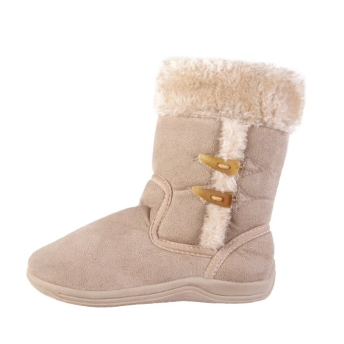 Journee Collection Kids Faux Fur Trim Toggled Boots