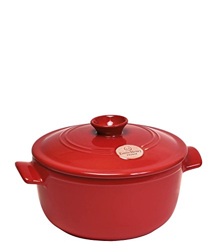 Emile Henry Made In France Flame Round Stewpot Dutch Oven, 2.6 quart, Burgundy (Flame Broiler Oven compare prices)