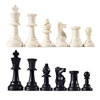 "Heavy Tournament Triple Weighted Chess Pieces with 3 3/4"" King"