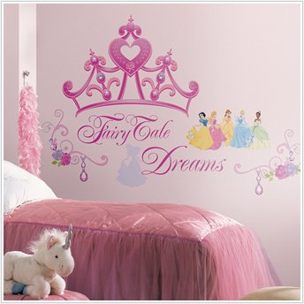 Peel & Stick By RoomMates Disney Princess - Crown Giant Wall Decal