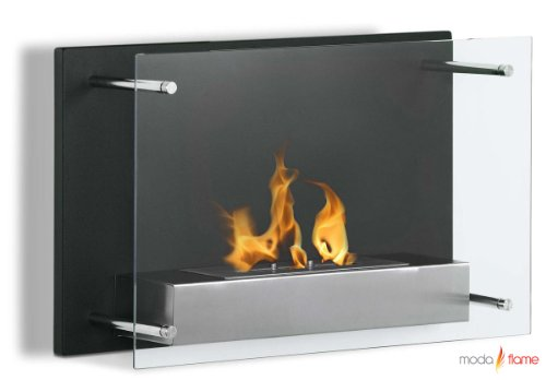 Moda Flame Epila Wall Mounted Ethanol Fireplace (Modern Flame Fireplace compare prices)