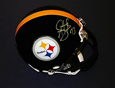 Troy Polamalu Autographed hand signed Pittsburgh Steelers mini helmet.