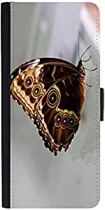 Snoogg Butterfly Blue Morpho Designer Protective Phone Flip Case Cover For Samsung Galaxy J7
