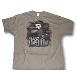 Duck Dynasty Tee, Mens Phil 'I Am 9-1-1 Redneck Tough Guy 911 T-Shirt L-3XL