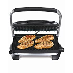 Hamilton Beach 25324 100-Square-Inch Nonstick Indoor Grill with Panini Press