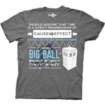 Doctor Who - Wibbly Wobbly Quote T-Shirt Size XXL (Quote Merchandise compare prices)