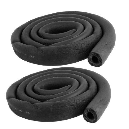 "2 Pcs Suds Hose 5/8"" x 3/8"" Air Conditioner Heat Insulation Pipe Black"