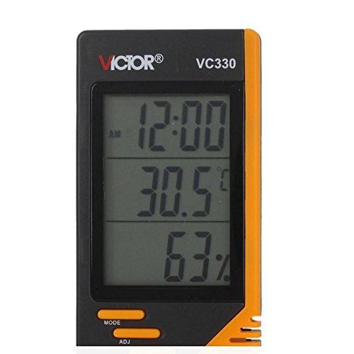 Vc330 Digital Lcd Indoor Thermometer Hygrometer Clock Humidity Meter front-428949