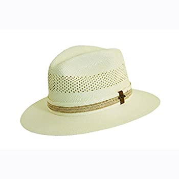 Safari panama hat with braid inlay