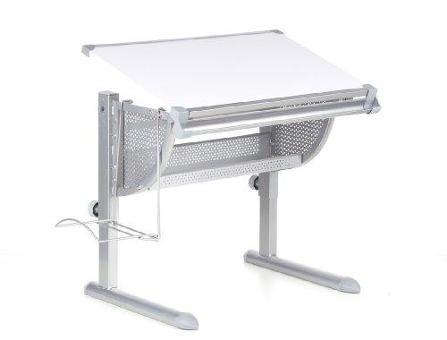 HJH-Office-705100-Kinderschreibtisch-Belia-hhenverstellbar-mit-neigbar-weiss-silber