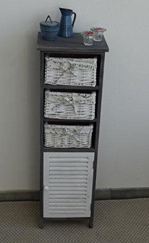 Cassettiera Vimini Per Bagno.Mobiletto Mobile Cassettiera Bagno Lavanderia Camera Con 3 Cassetti