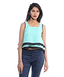 Avakasa Poly Georgette Green Tops (ctop-02-green)