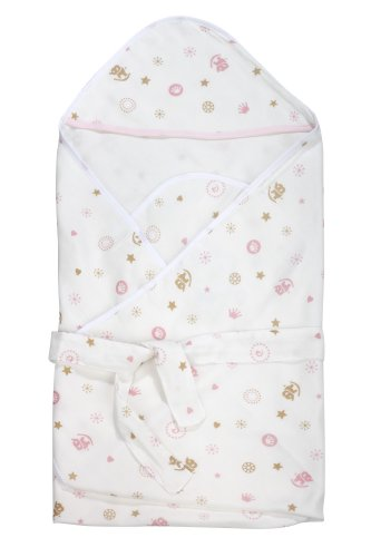 Dele Super Soft Bamboo Fiber Gauze The Summer Of Newborn Baby Blanket Receiving Blanket (Pink) front-706238