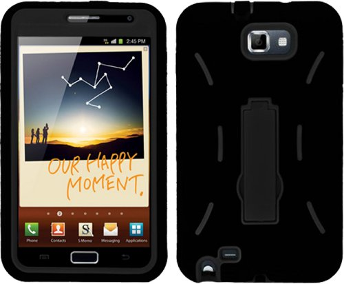 Shock Proof Armored Defender Case/Cover For Samsung Galaxy Note I717 At&T Black