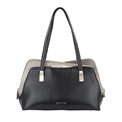 Borsa Shopping ANGELINA Cod. 1402454 NERO/BEIGE