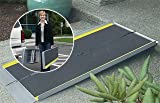 Wheelchair Ramp - Made in USA - This ramp is durable and convenient to use. The ramp sets up in seconds, is 29-inches wide and easily folds in half to be carried like a suitcase for travel.