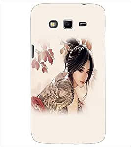 PrintDhaba Cute Animated Tatto Girl D-3700 Back Case Cover for SAMSUNG GALAXY GRAND 2 (Multi-Coloured)
