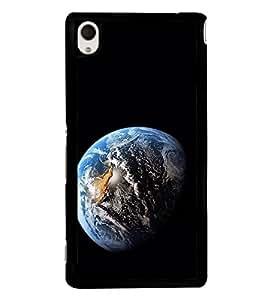Blue Earth 2D Hard Polycarbonate Designer Back Case Cover for Sony Xperia M4 Aqua :: Sony Xperia M4 Aqua Dual