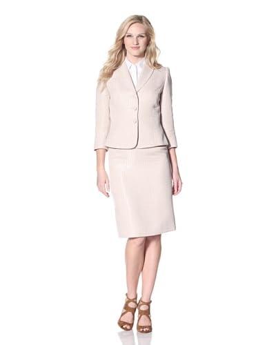Tahari by ASL Women's Jacquard Skirt Suit