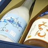 秋のギフト 飲み比べ 子宝 生とろ鳥海山麓ヨーグルト 梅乃宿 あらごしみかん 720ml×2本セット