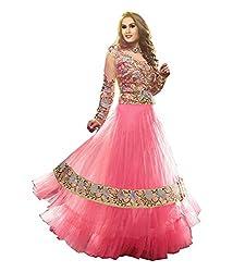 Royal N rich pink Anarkali embroidered salwar suit (rnr67)
