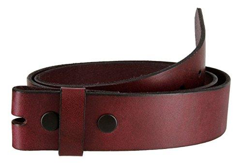 Burgundy Work Jean Casual Genuine Leather Belt Strap (36)