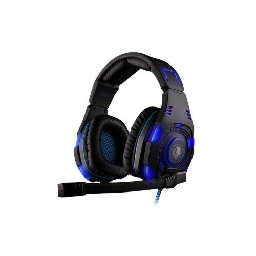 Andget Sades Sa-907 7.1 Surround Sound Headset Usb Headset Wcg Headphone Gaming Led Headset With Microphone Blue / Black
