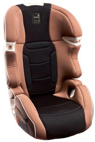 Kiwy 14003KW02B -  Seggiolino auto per bambini, gruppo 2/3 (15/36 kg), con adattatore Q-Fix per Isofix, certificato ECE R44/04, colore: Beige moka
