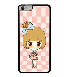 Vizagbeats Animated golden Girl Back Case Cover for MICROMAX KNIGHT 2 E471