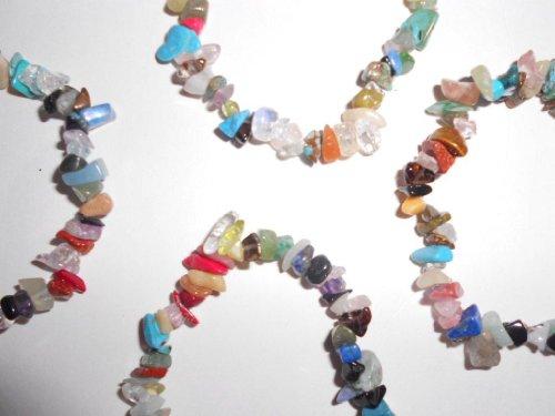 "Single Piece & Wholesale 10 Pack Of Natural Mixed Gemstone Chakra 7"" Stretch Bracelet Bracelets (Wholesale 10Pc Pack) front-203951"