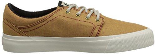 DC Men's Trase TX SE Skate Shoe, Wheat, 9.5 M US
