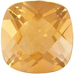Antique Square Shape Checkerboard Citrine Loose Gemstone, Quality Grade, A 1.95 carats 8.00 mm